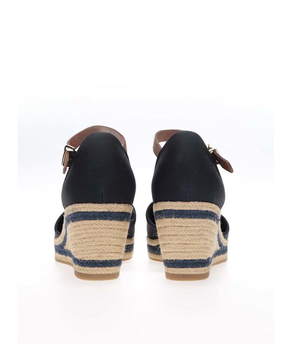 b345f42e2cc Tmavě modré dámské bavlněné boty na klínku Tommy Hilfiger - SLEVA ...