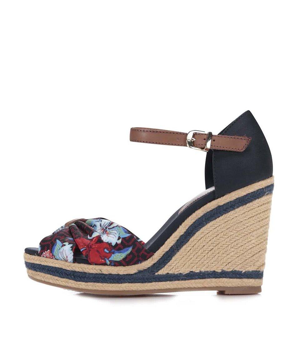978b7604fb6 Béžové dámské bavlněné boty na klínku Tommy Hilfiger - SLEVA ...