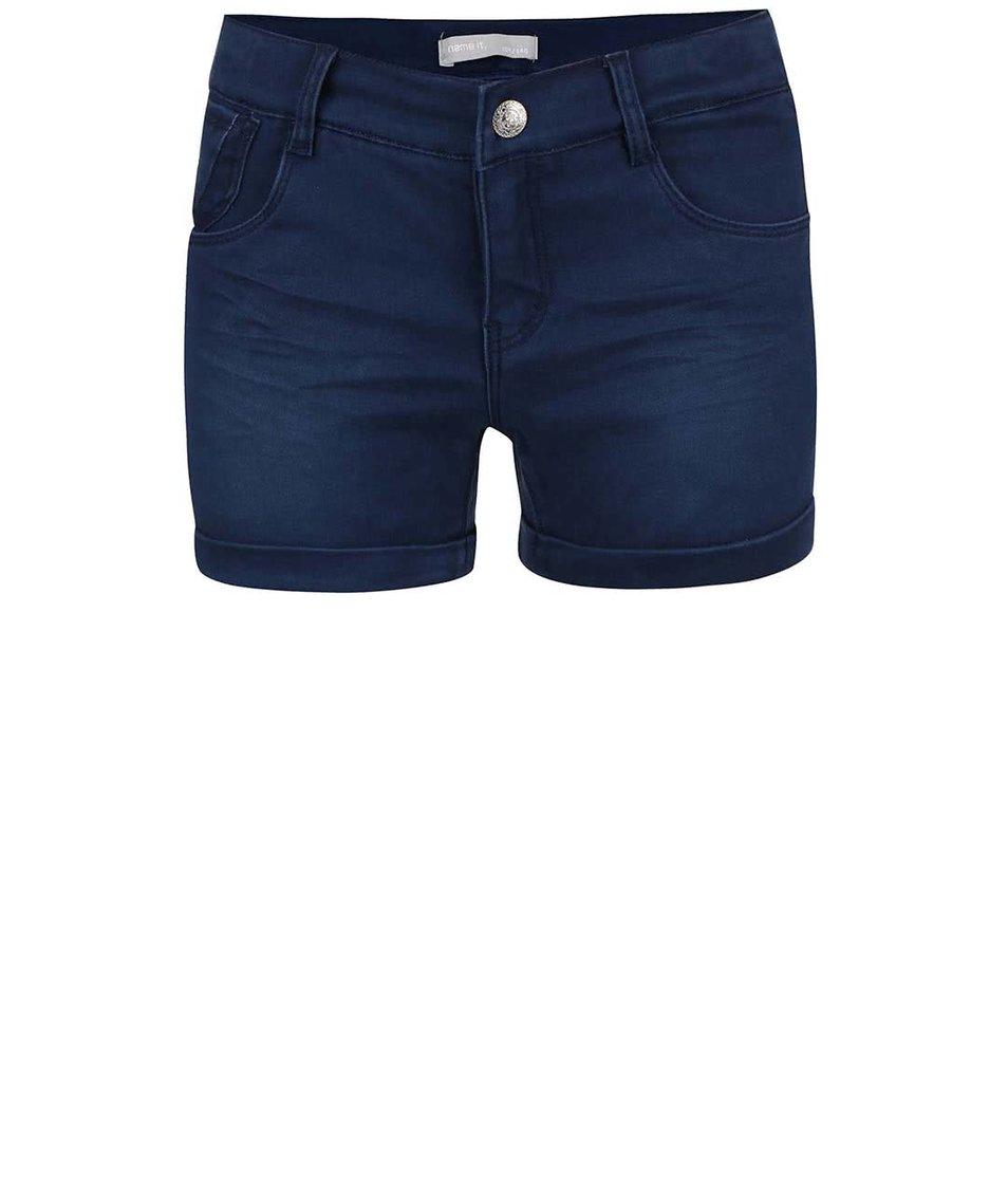 Tmavě modré holčičí džínové šortky name it Siribelle