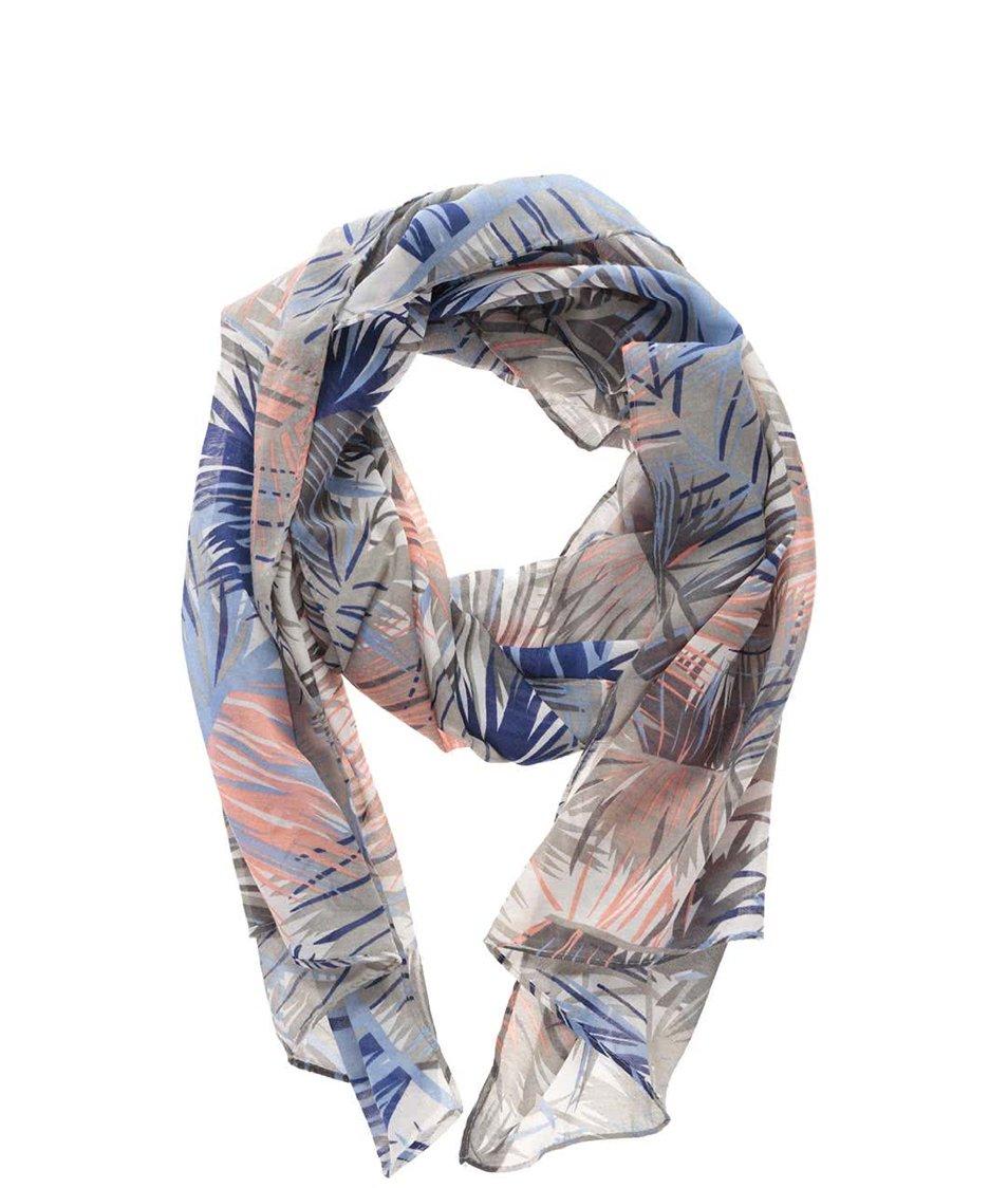 Šedý vzorovaný šátek Pieces Belinda
