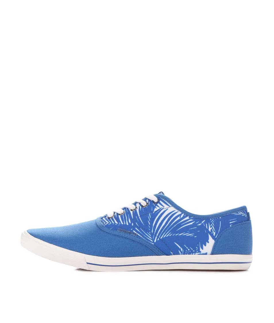 Modré vzorované tenisky Jack & Jones Spider