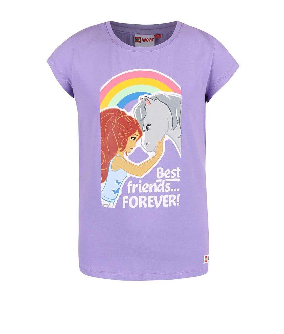 Fialové holčičí tričko LEGO wear Tamara