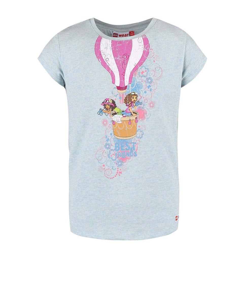 Světle tyrkysové holčičí tričko s potiskem LEGO wear Tamara