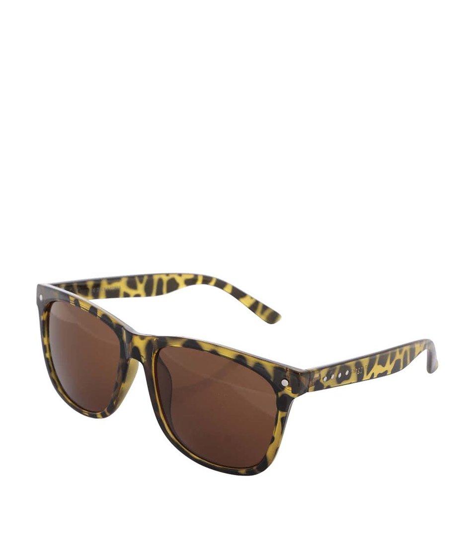 Žluté želvovinové sluneční brýle Jack & Jones Jack