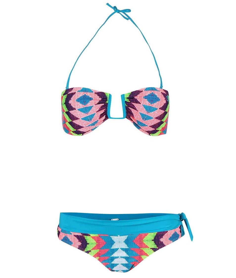 Fialovo-tyrkysové dvoudílné vzorované plavky Rip Curl Phoenix