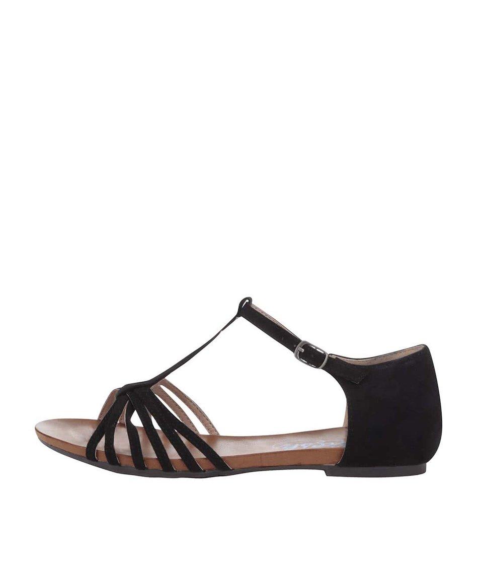 Černé sandálky Refresh