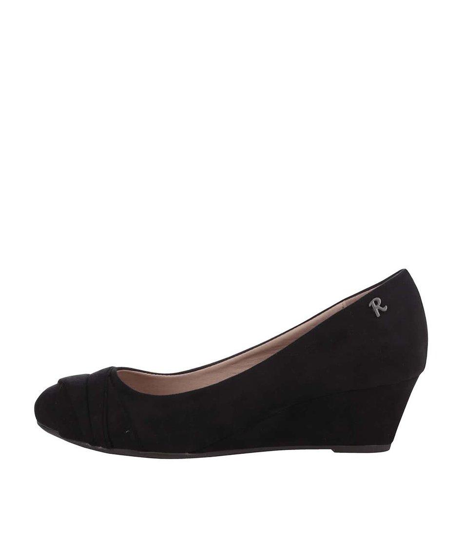 Černé boty na klínku Refresh