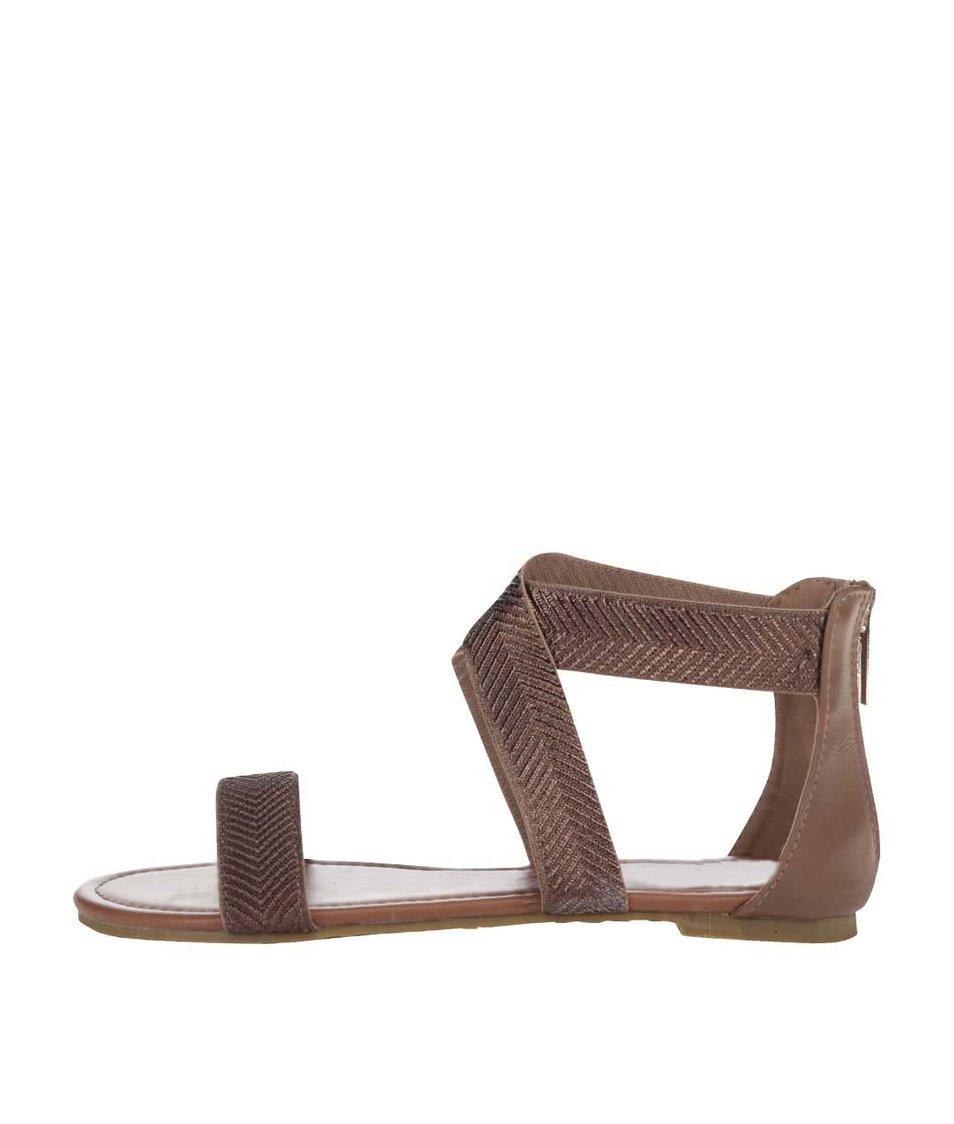 Sandálky v bronzové barvě Refresh