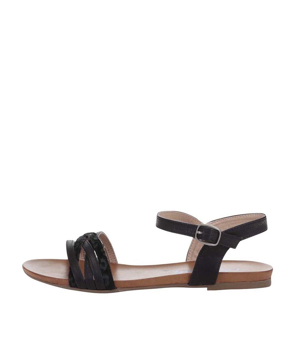 Černé vzorované sandálky Refresh