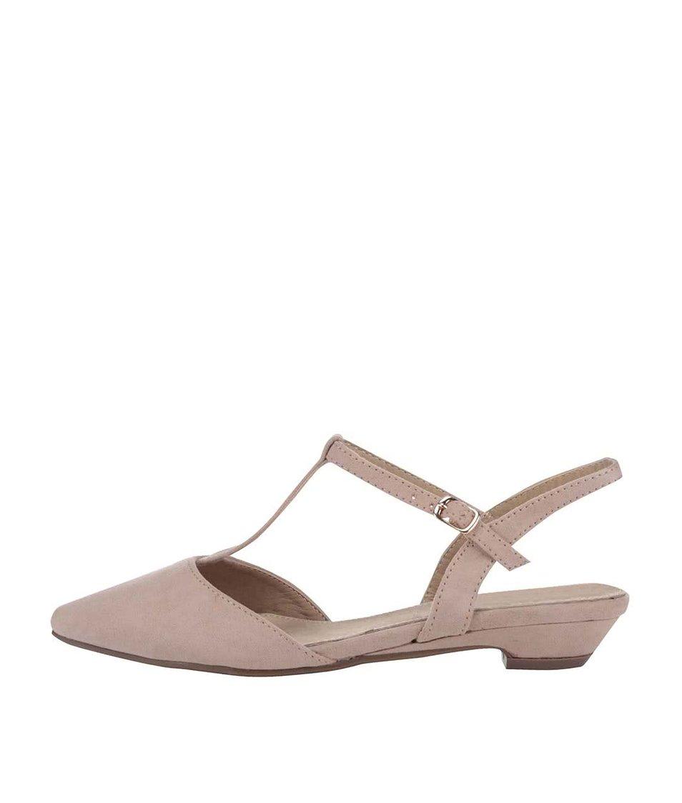 Krémové sandálky s uzavřenou špičkou Xti