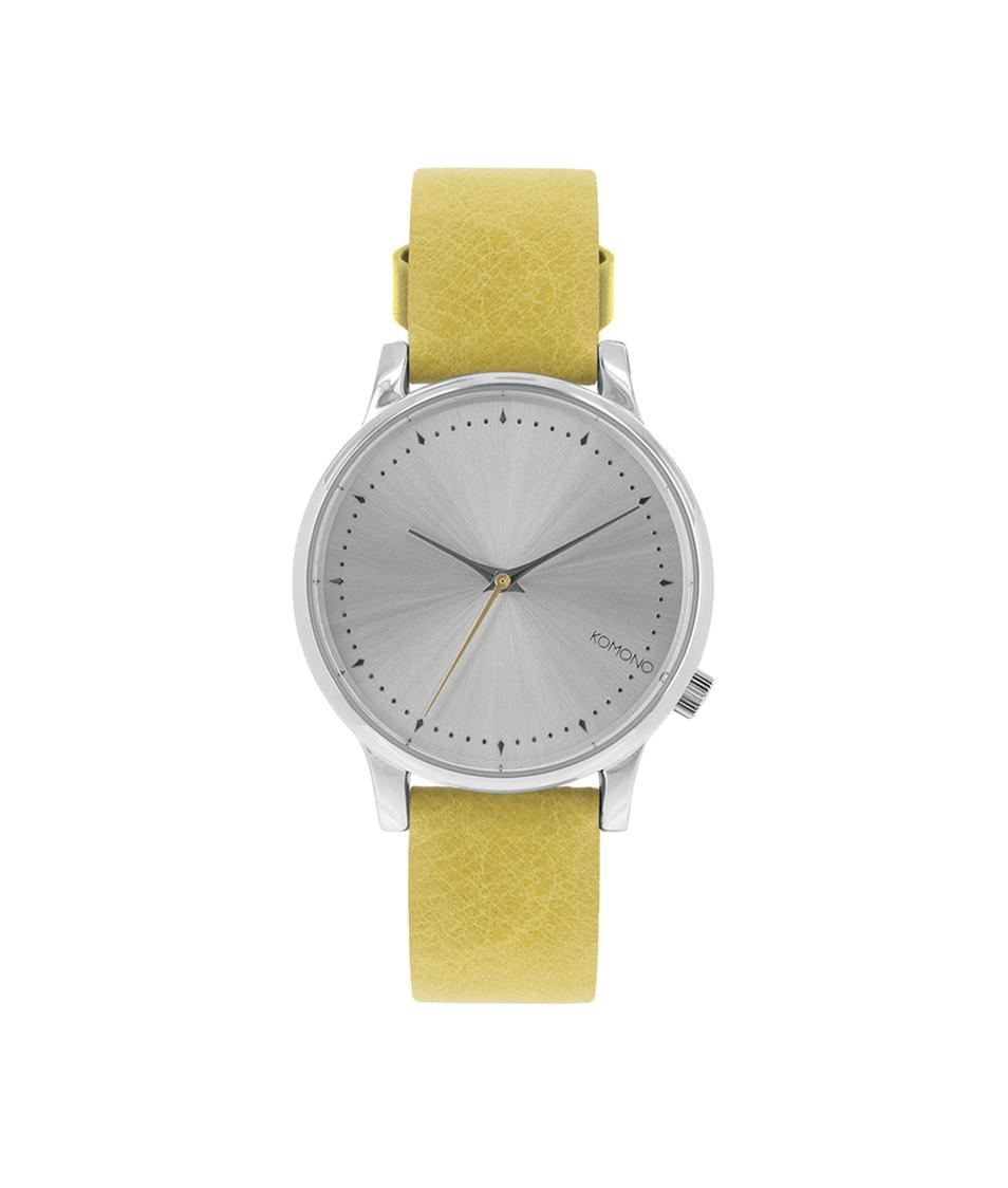 Limetkové kožené dámské hodinky Komono Estelle Lime Flower