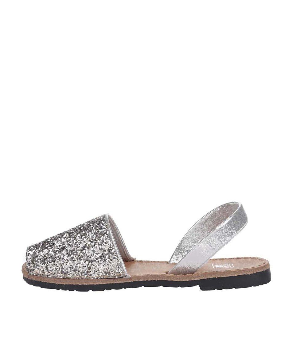 Sandálky v stříbrné barvě s flitry Colors of California