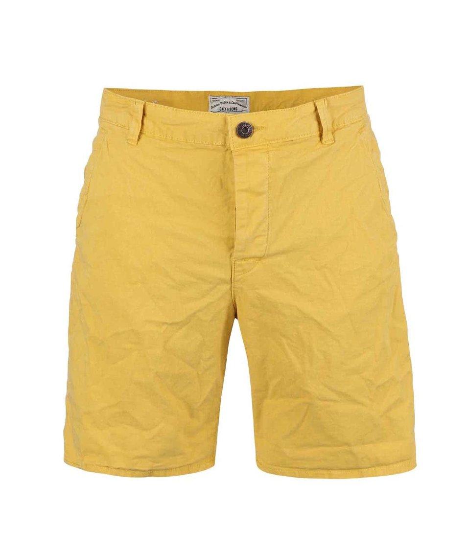 Žluté kraťasy ONLY & SONS Drop
