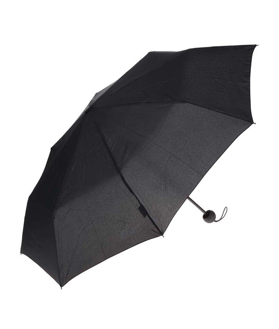 Černý dámský skládací deštník s.Oliver