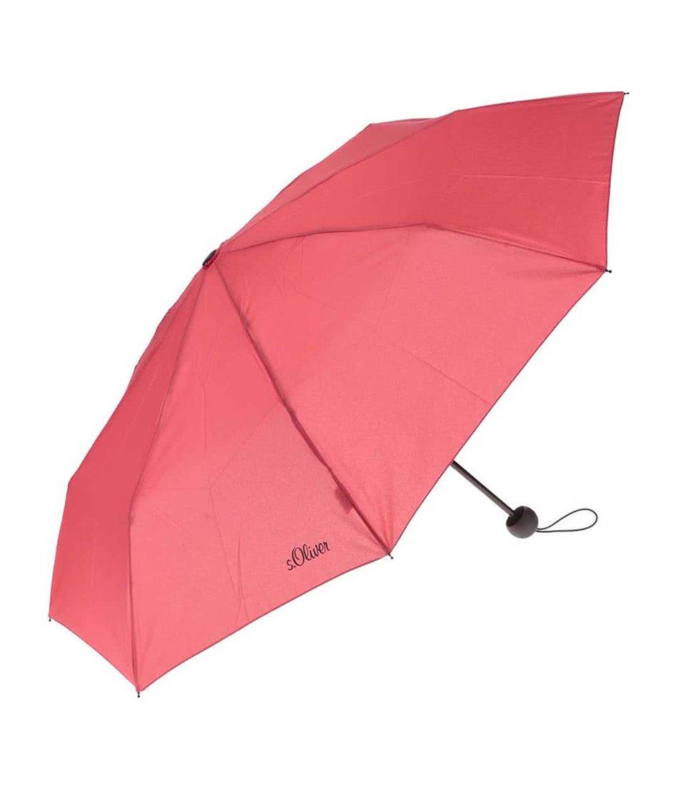 Červený dámský skládací deštník s.Oliver