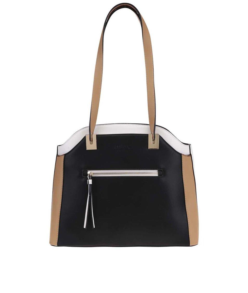 Krémovo-hnědo-černá kabelka DSUK