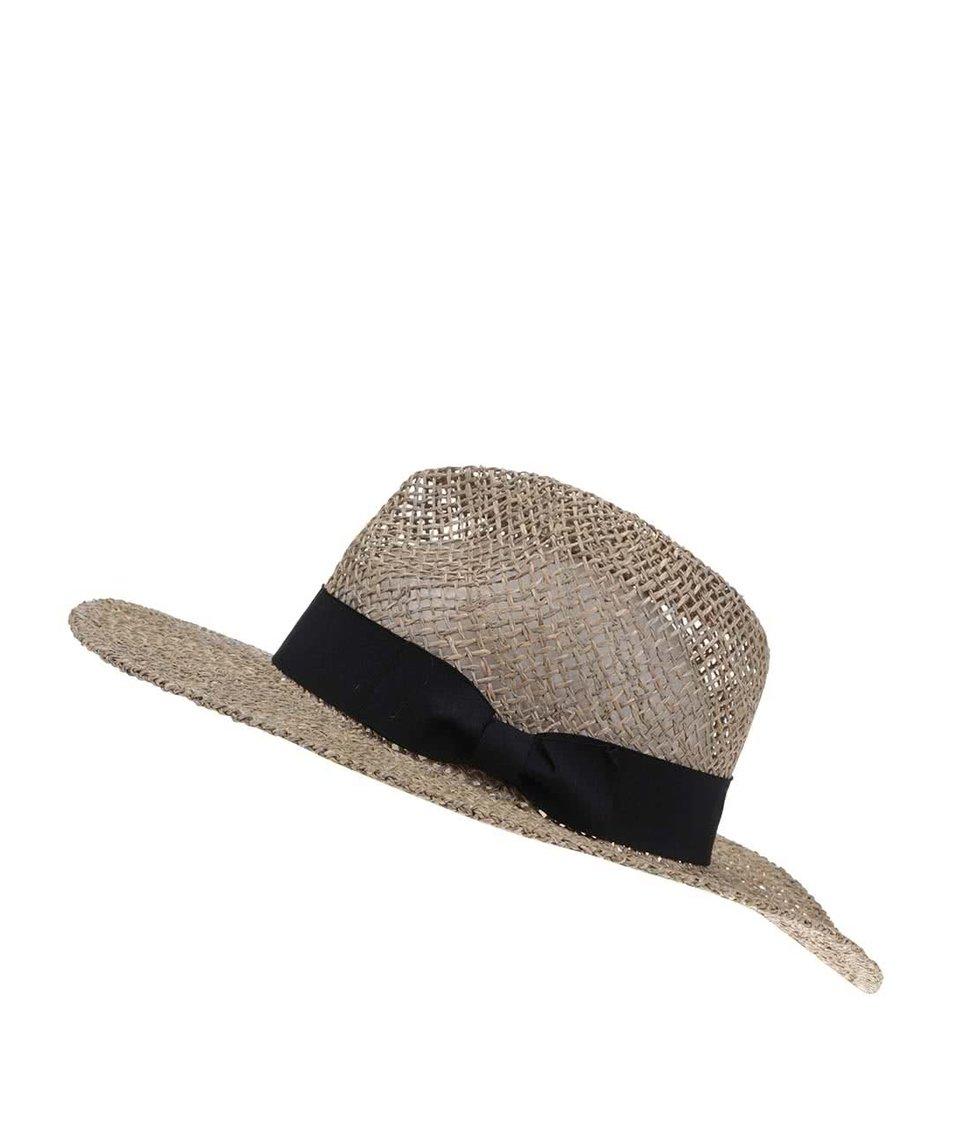 Slaměný klobouk s černou mašlí Vero Moda Ellen