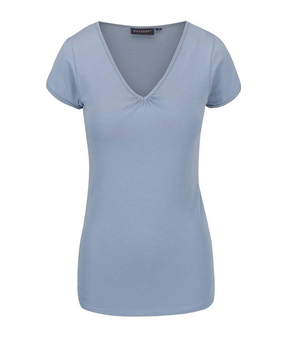 Šedomodré dámské tričko Broadway Dana