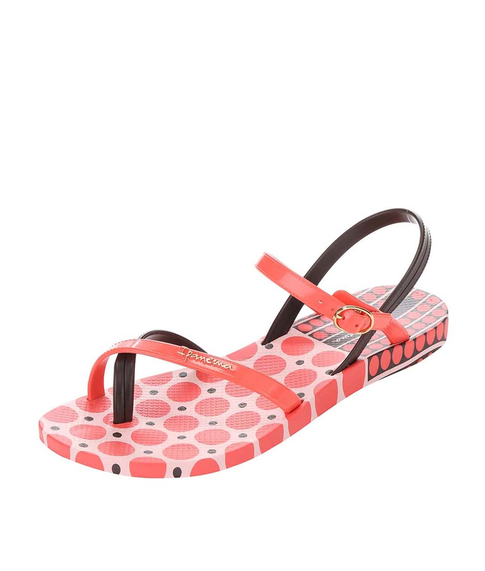 Hnědo-růžové sandály Ipanema Fashion