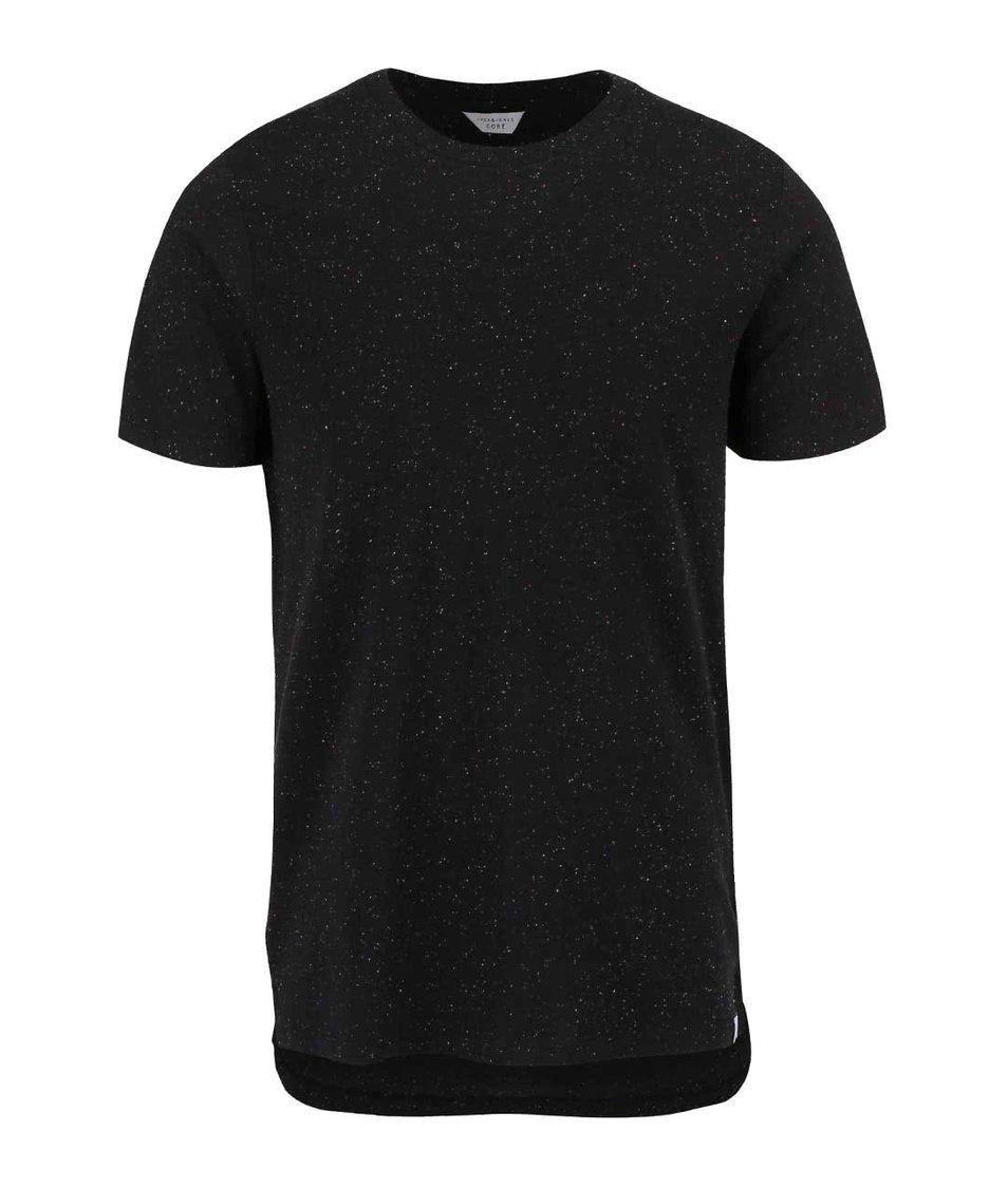 Černé triko s barevným vzorem Jack & Jones Mac
