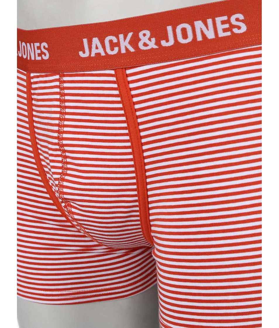 Sada tří barevných pruhovaných boxerek Jack & Jones Synchro