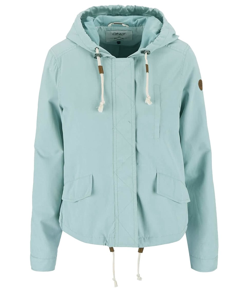 Světle modrá kratší bunda ONLY Skylar