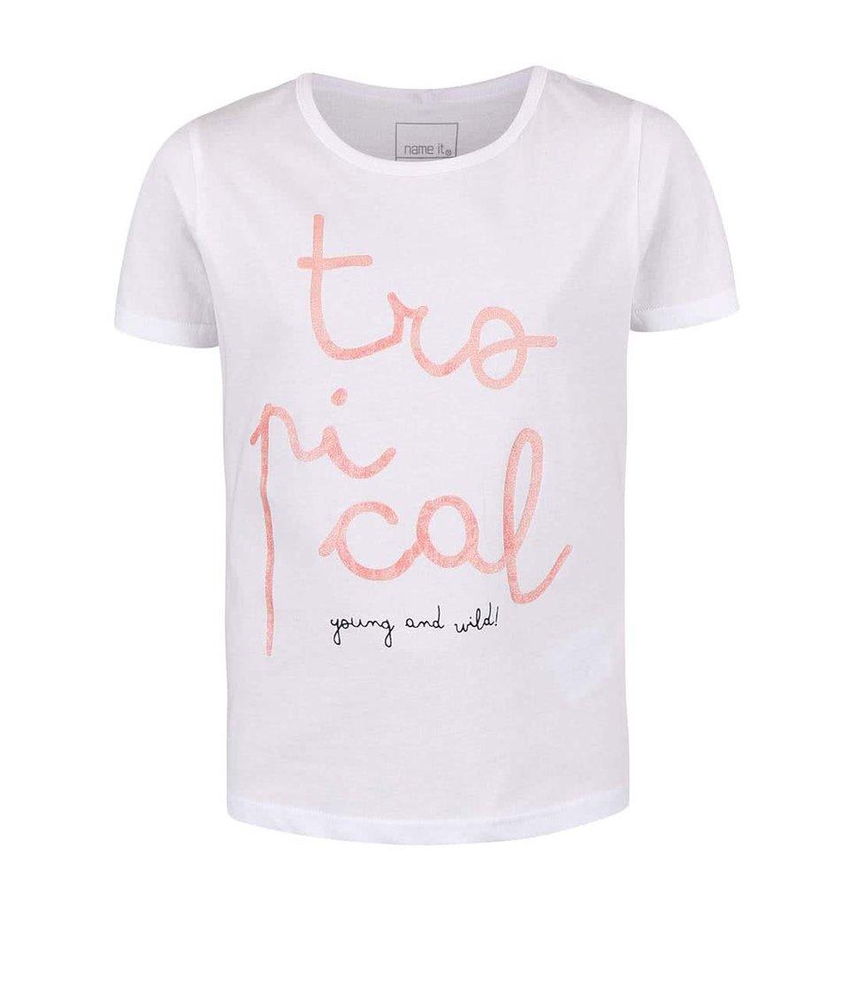 Bílé holčičí tričko name it Veen