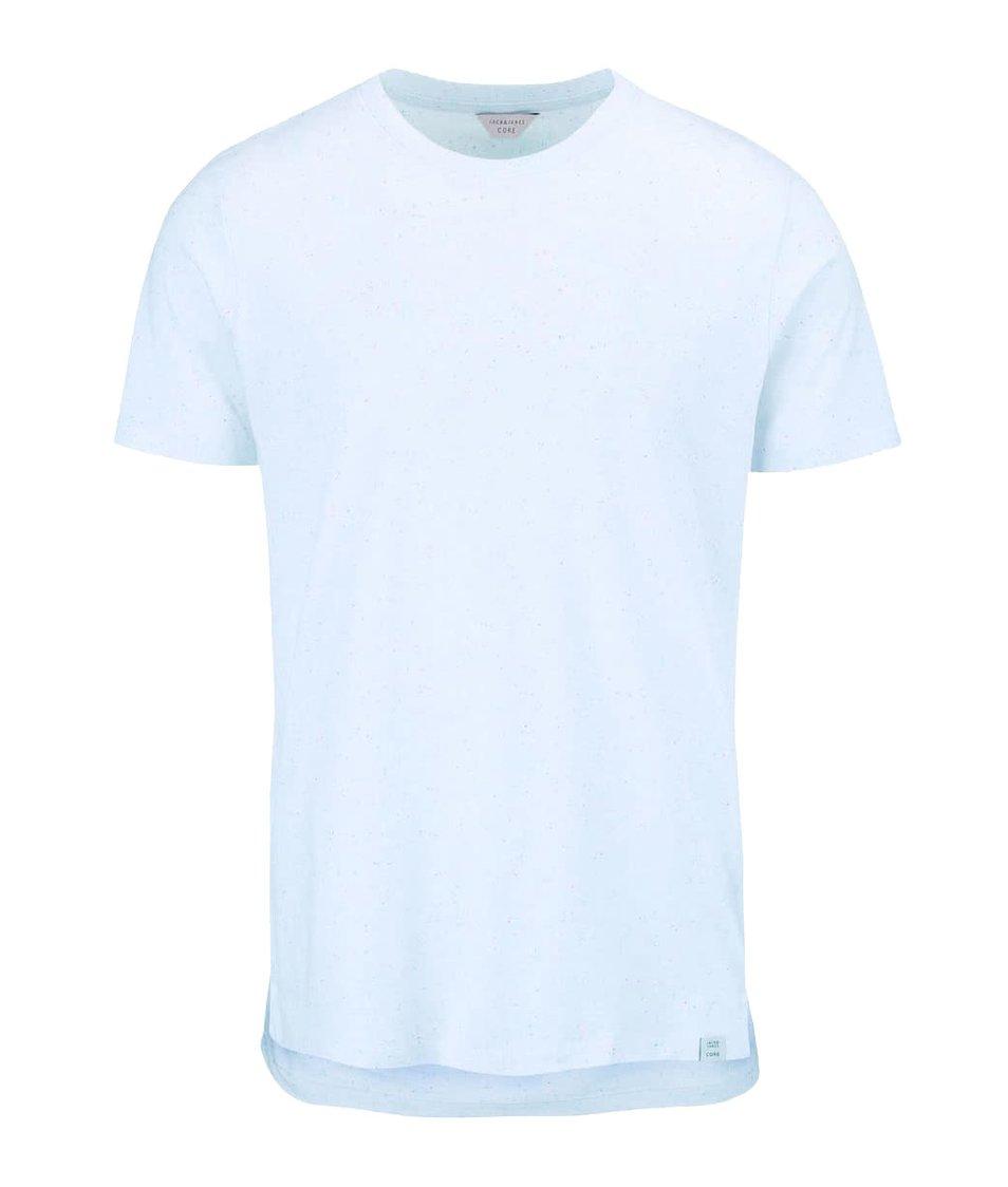 Světle modré triko s barevným vzorem Jack & Jones Mac