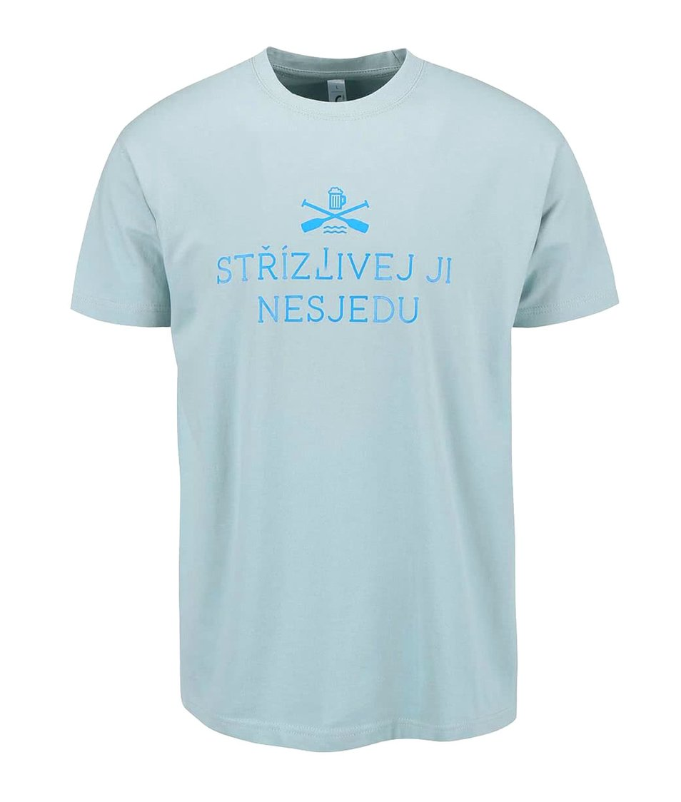 Modré pánské triko ZOOT Originál Střízlivej ji nesjedu