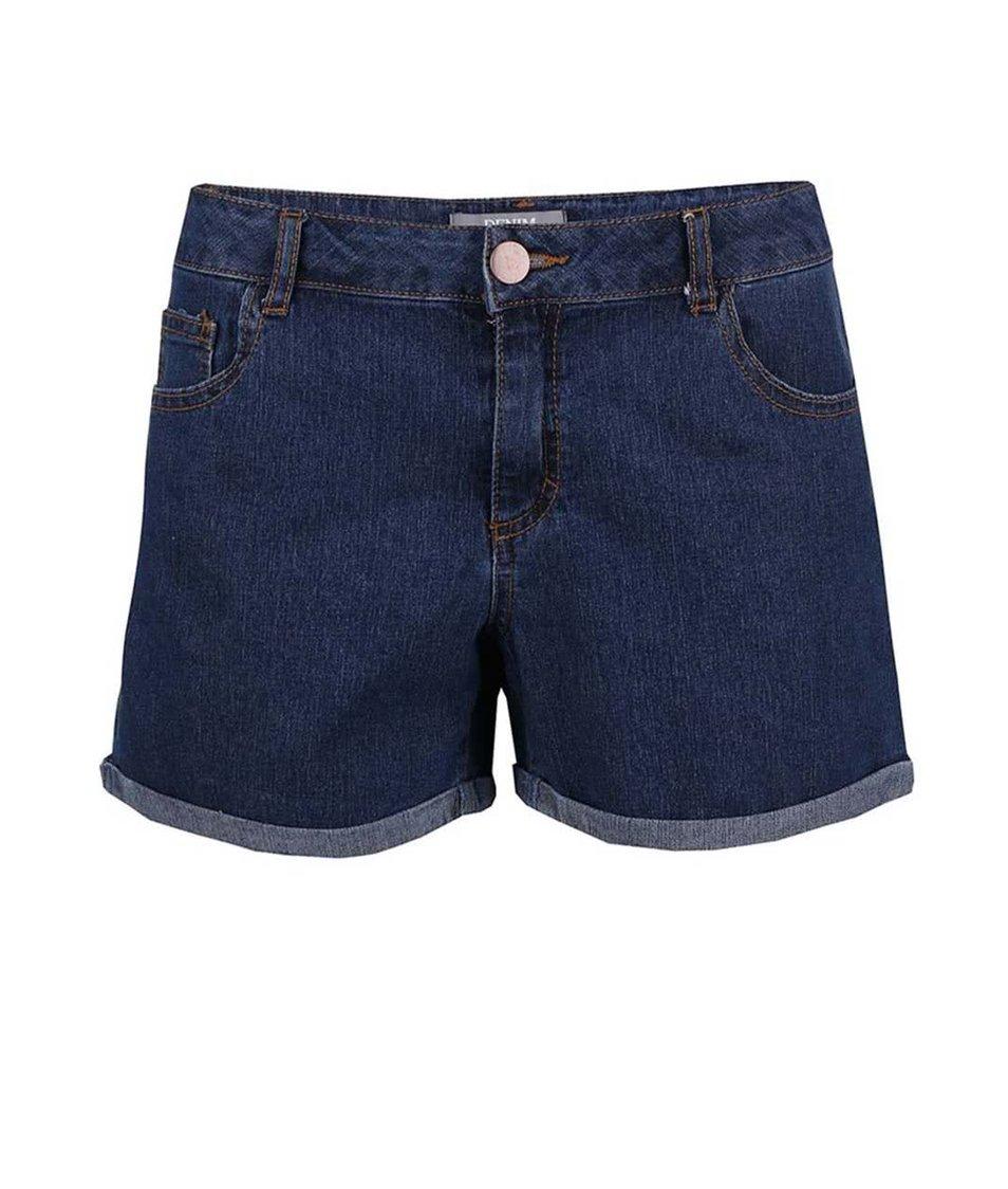 Tmavě modré džínové kraťasy Dorothy Perkins