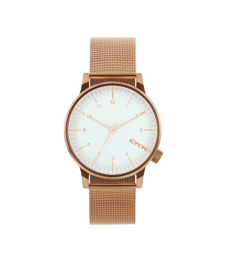 Pánské hodinky v měděné barvě Komono Winston Royale