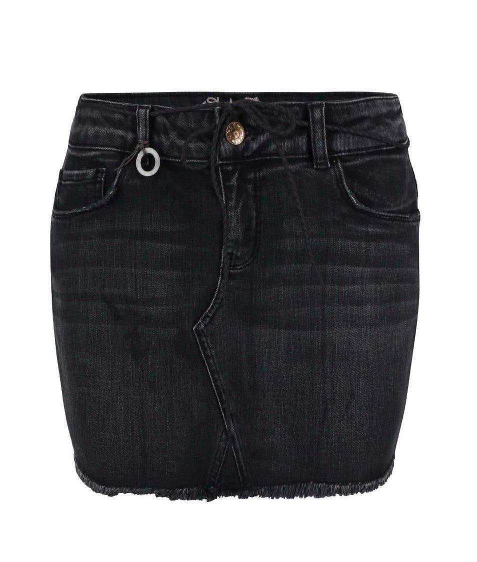 Černá džínová minisukně ONLY Rosie
