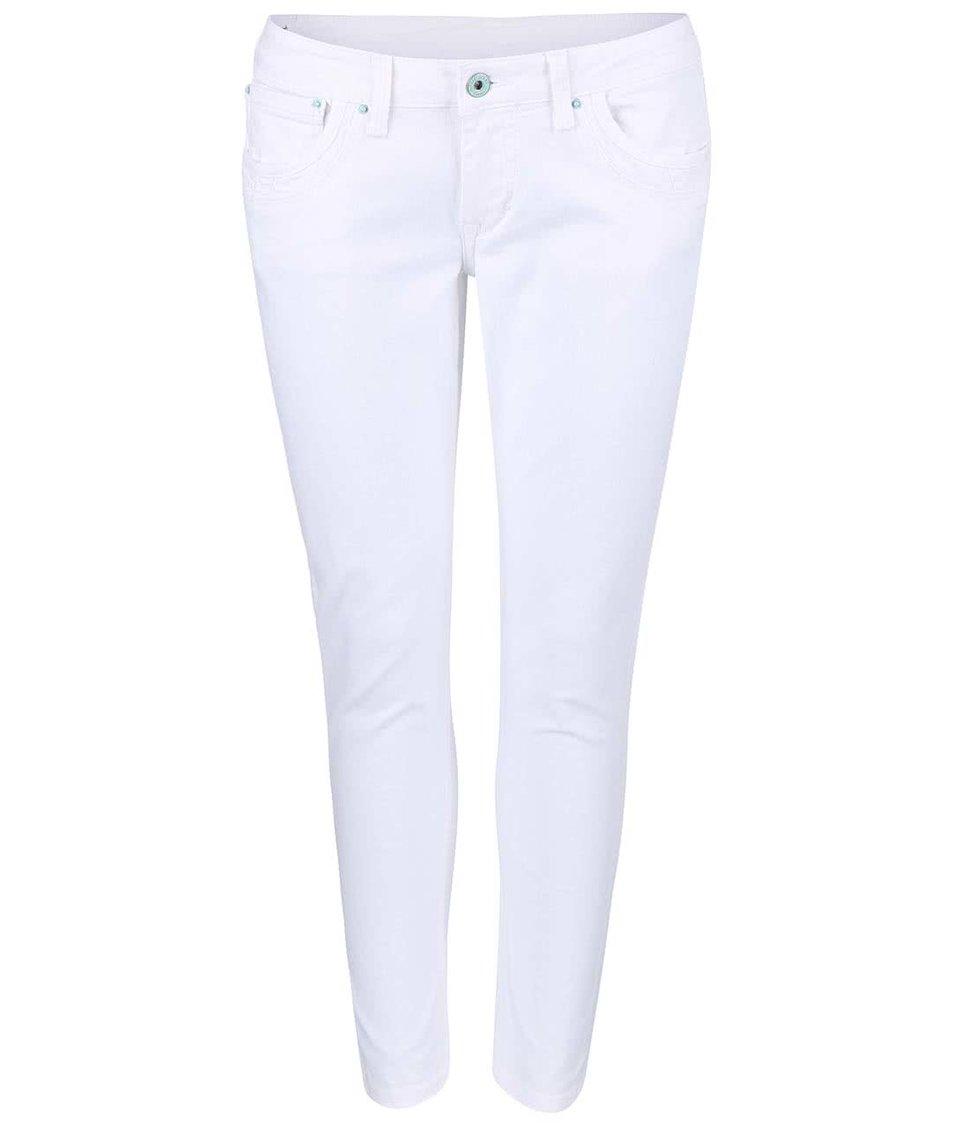 Bílé dámské slim fit džíny Pepe Jeans Ripple