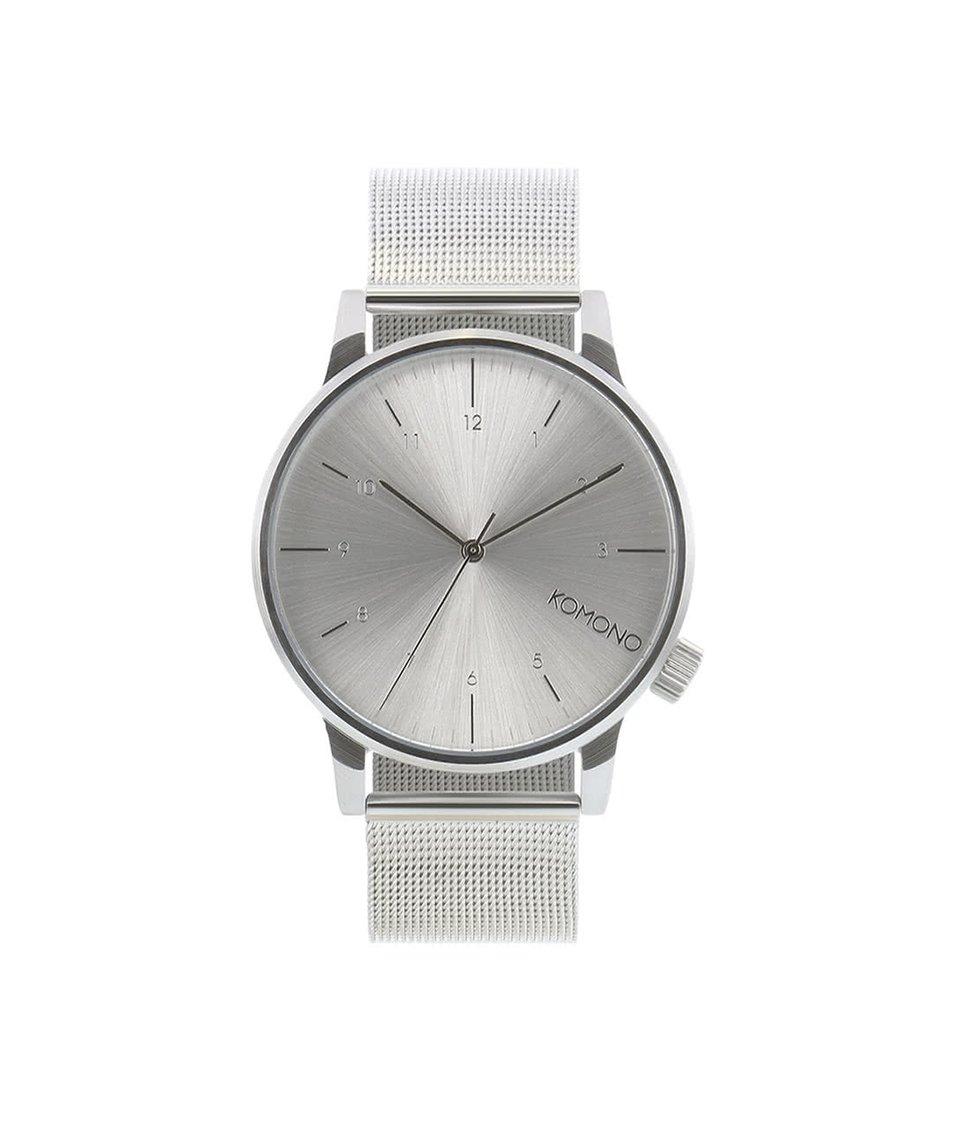 Pánské hodinky ve stříbrné barvě Komono Winston Royale