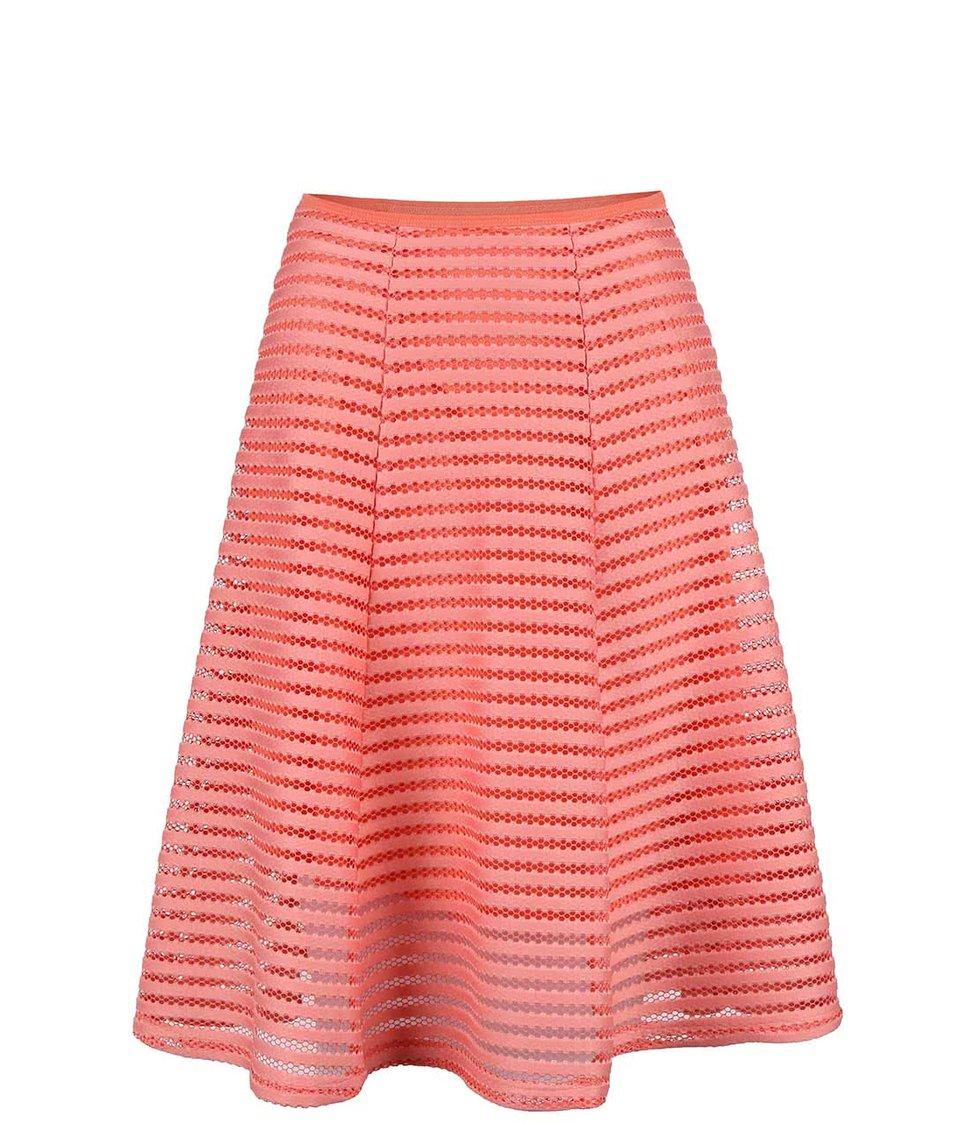 Korálová sukně ze síťované krajky Apricot