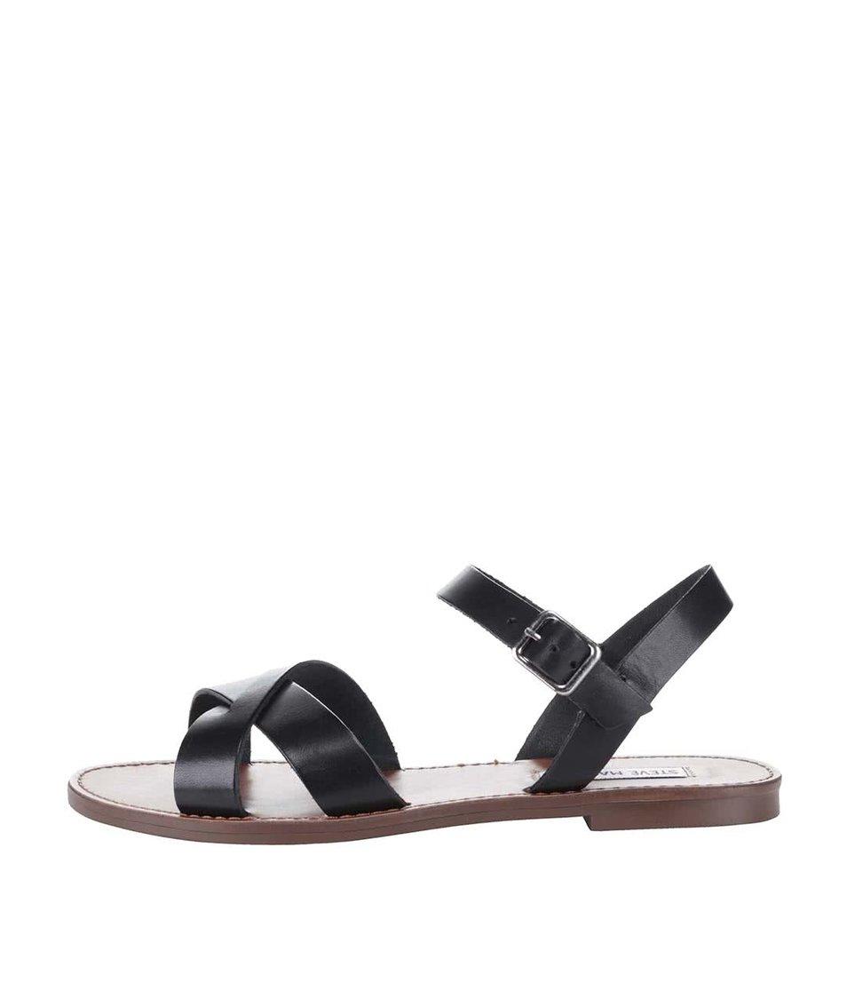 Černé dámské kožené sandály Steve Madden Dublin