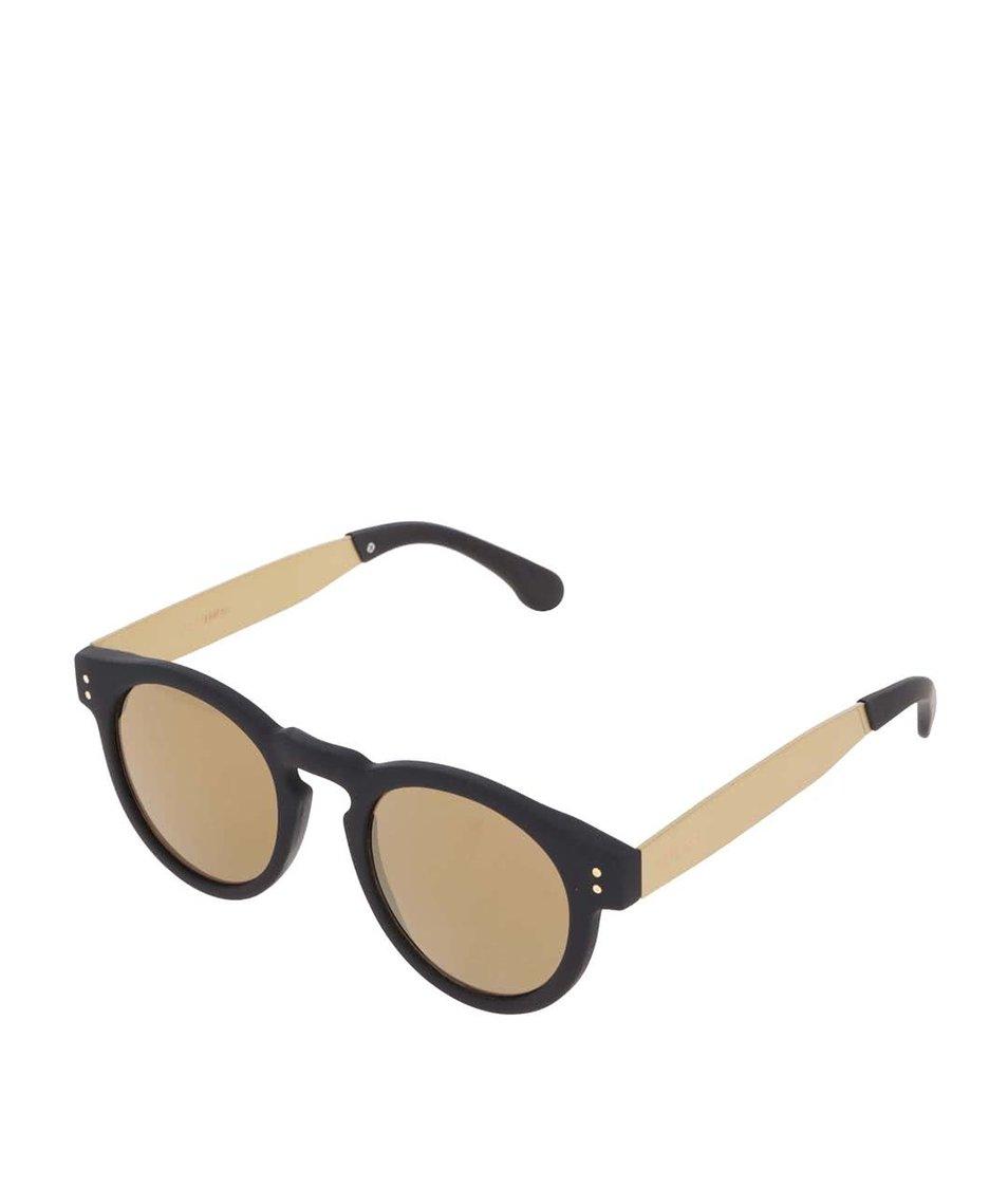 Černo-žluté unisex sluneční brýle Komono Clement