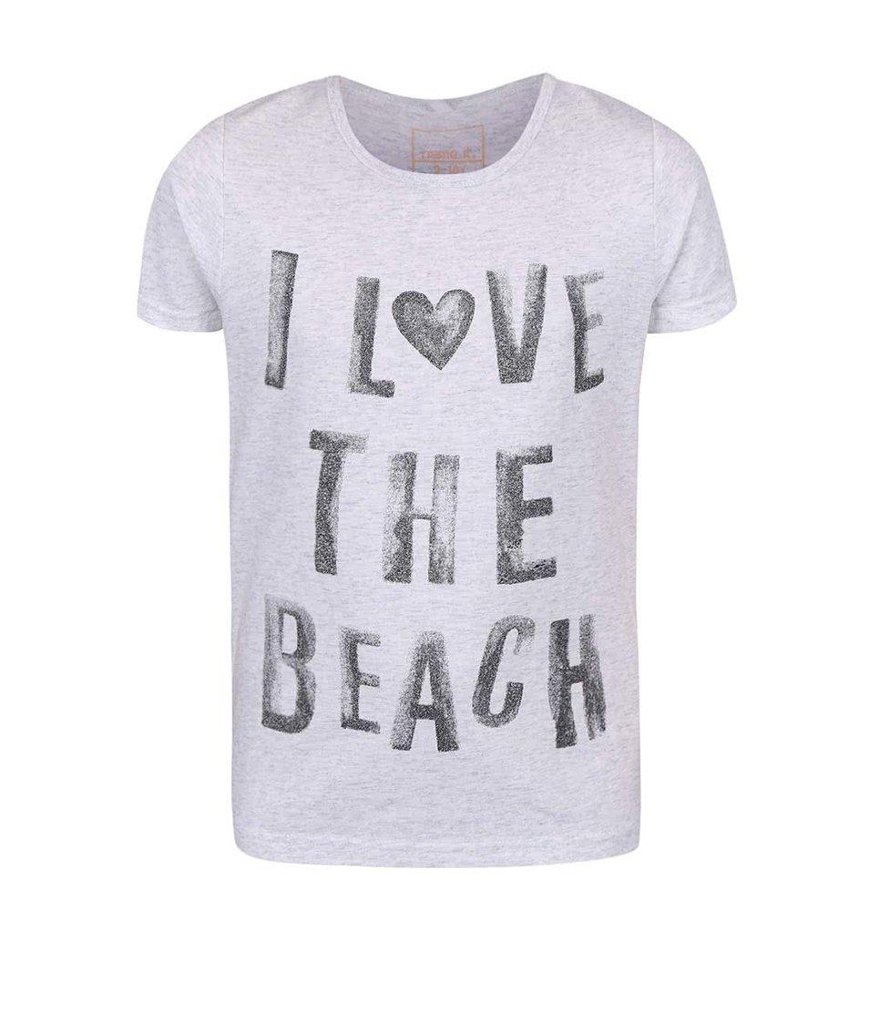 Světle šedé holčičí tričko s nápisem name it Vix