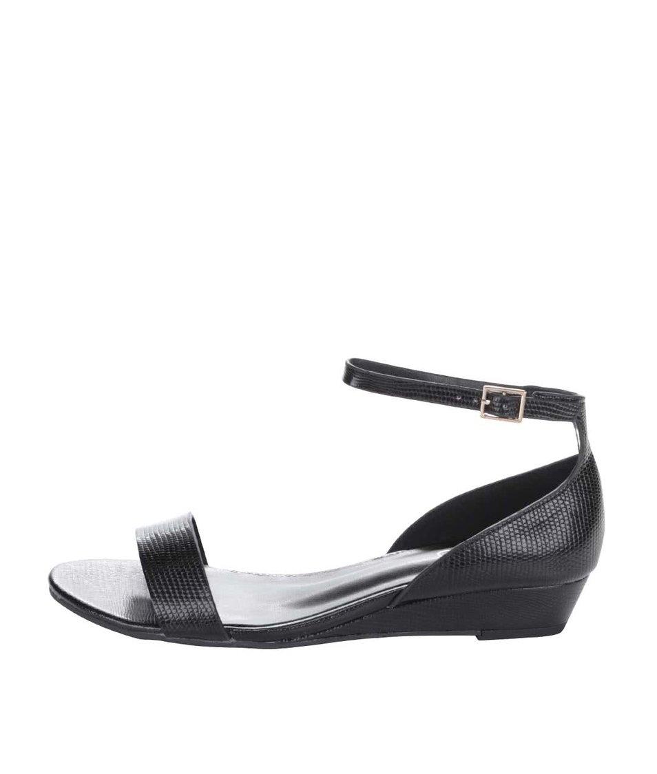 Černé sandály na klínku ALDO Kirwall