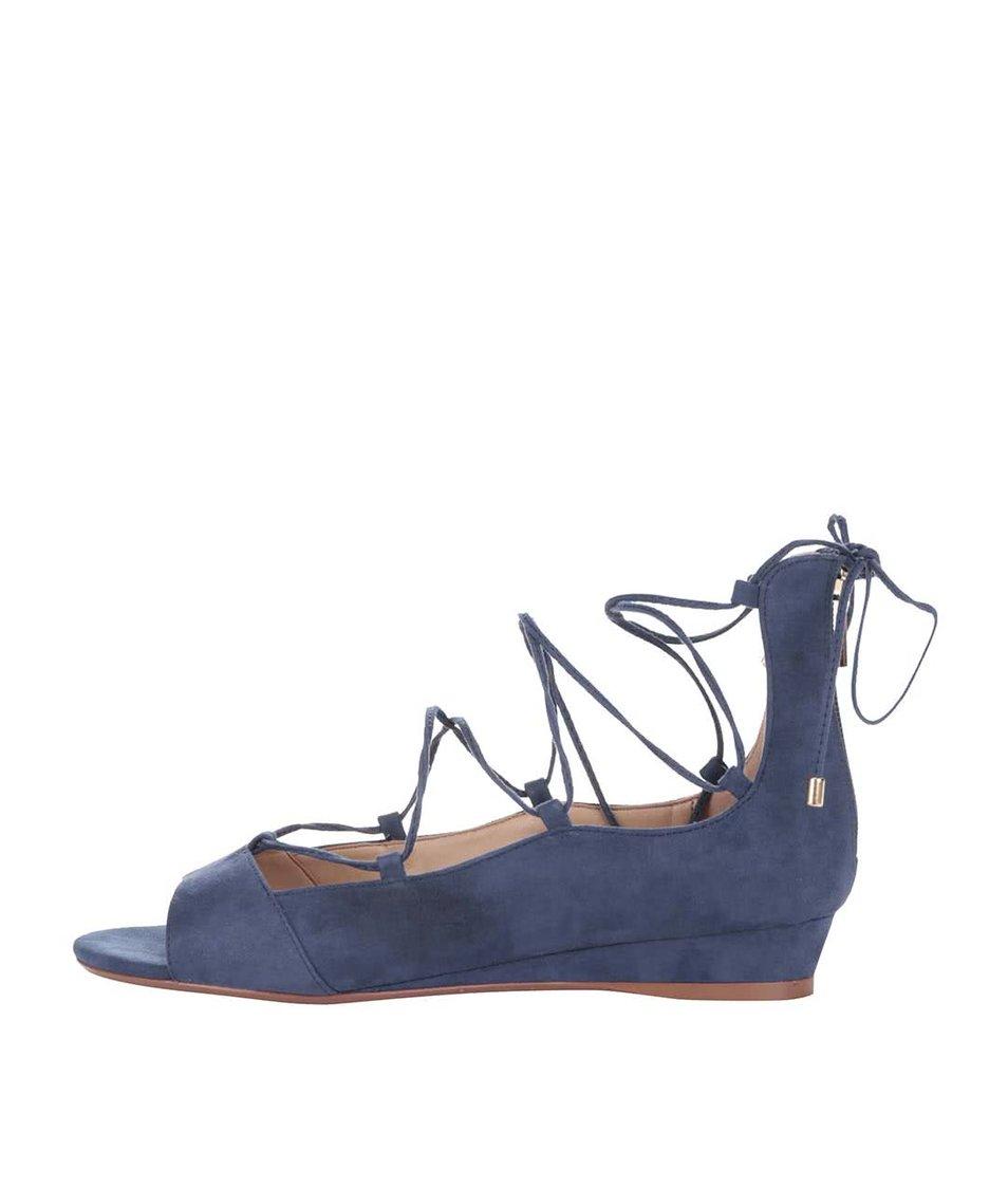 Modré šněrovací sandály na klínku ALDO Arla