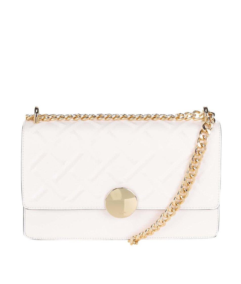 Bílá kabelka s řetízkovým popruhem ve zlaté barvě ALDO Pygmy