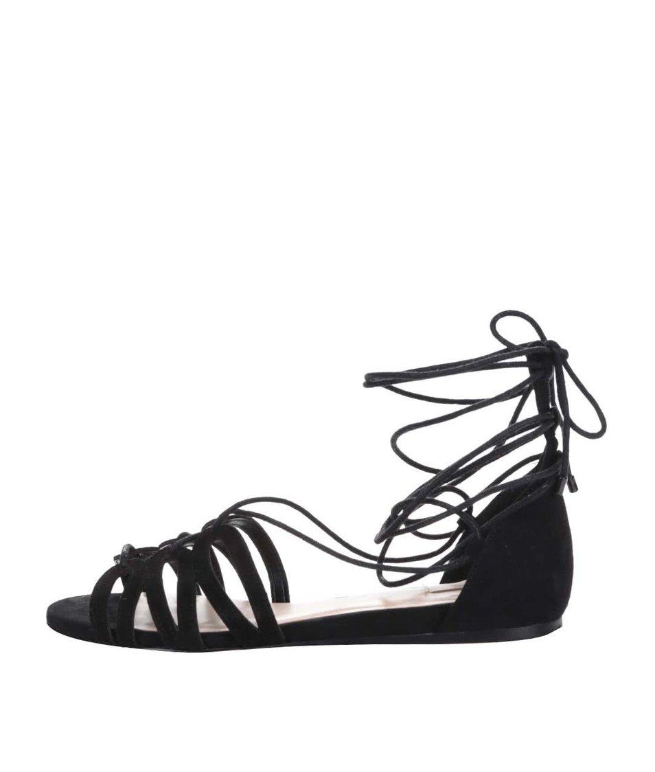 Černé semišové sandály se šněrováním ALDO Elireven