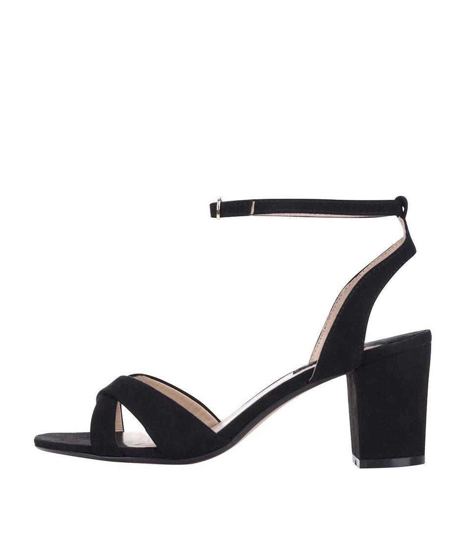 Černé sandály s páskem okolo kotníku Dorothy Perkins
