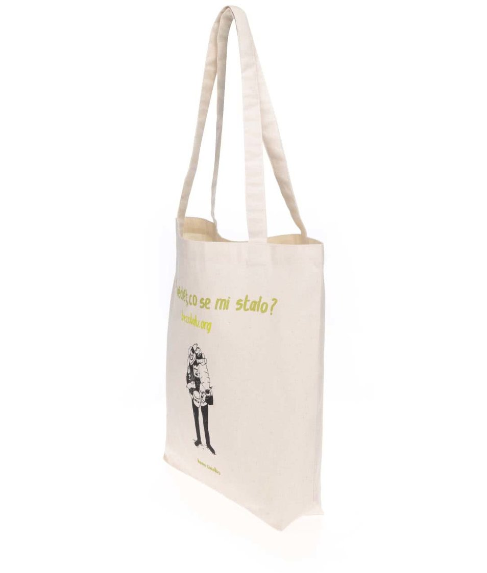"""""""Dobrá"""" plátěná taška Co se stalo pro Bezobalu"""
