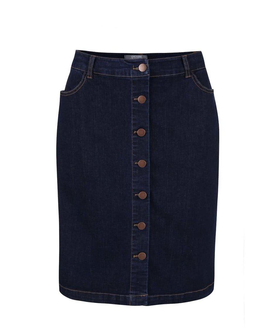 Modrá džínová sukně na knoflíky Dorothy Perkins