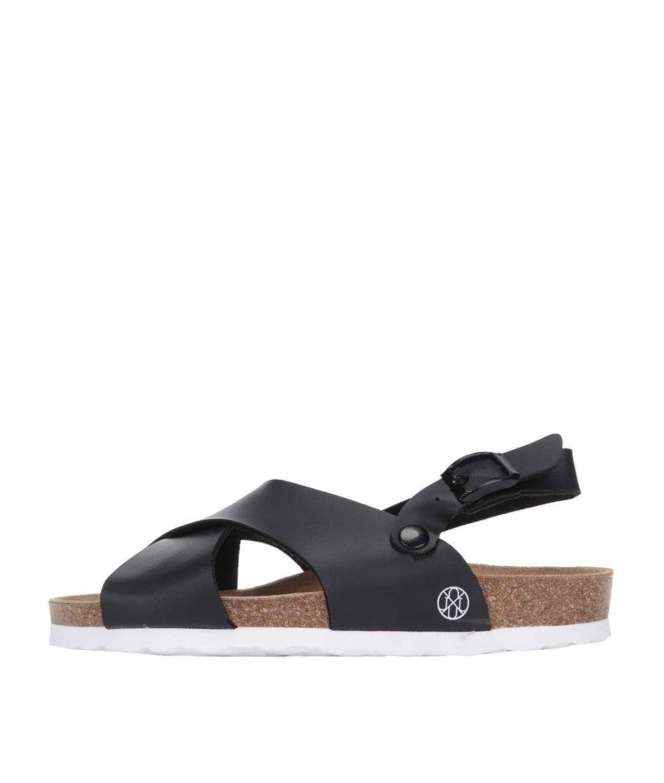 Černé dámské sandály do kříže OJJU