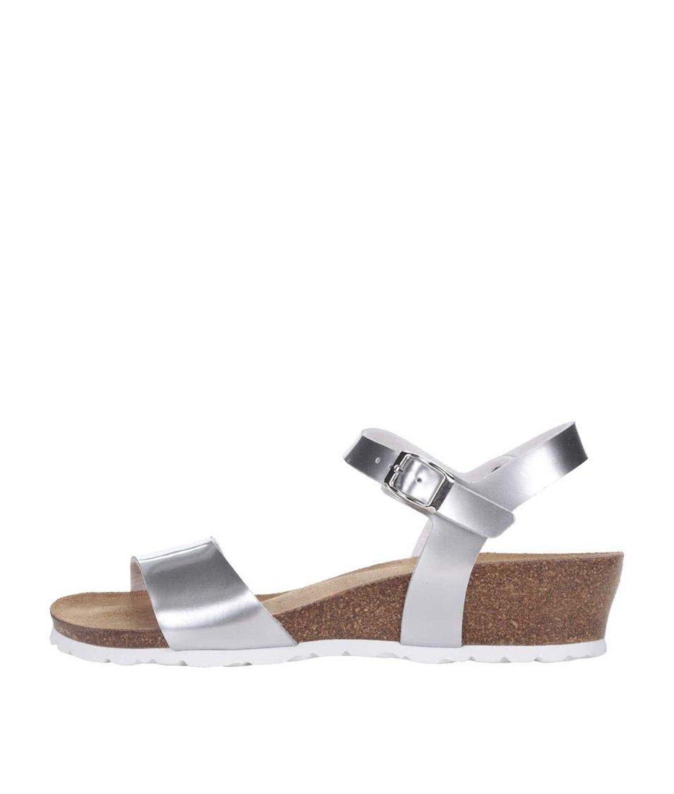 Dámské sandály ve stříbrné barvě OJJU