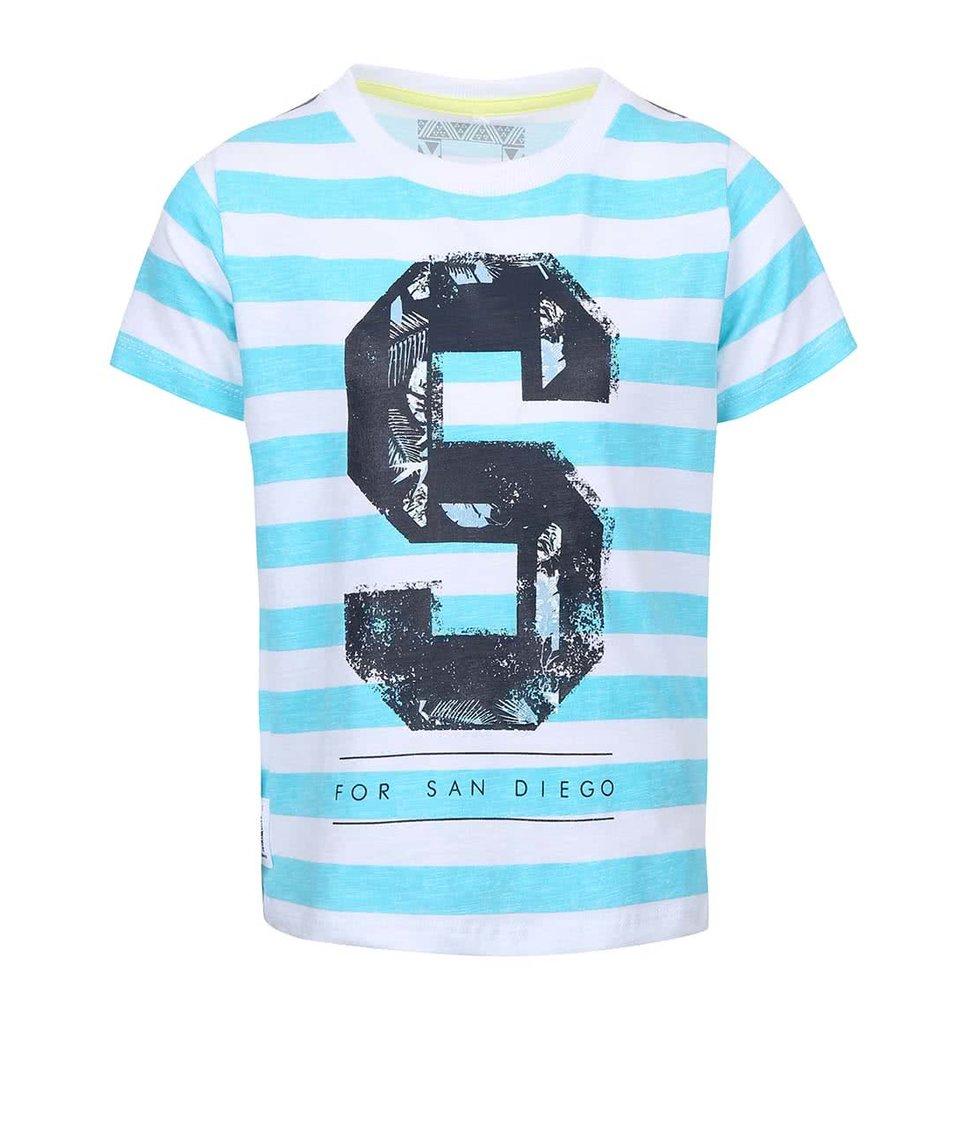 Tyrkysové klučičí tričko s pruhy name it Tian