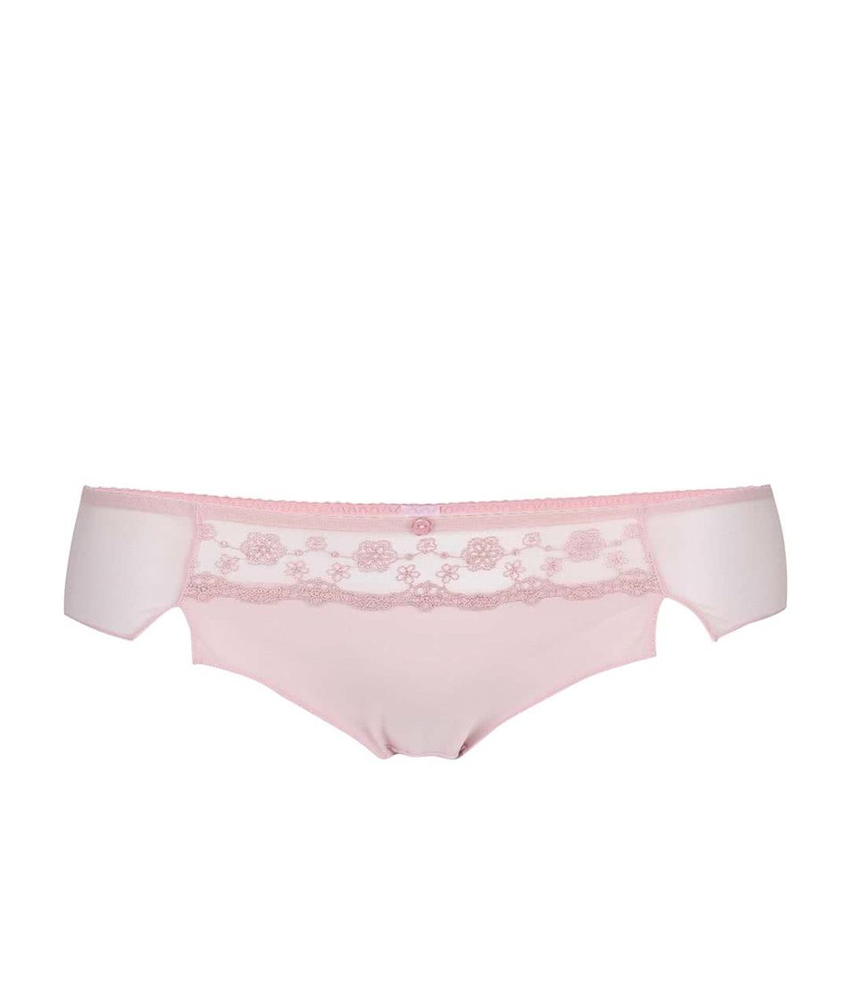 Světle růžové kalhotky Curvy Kate Florence