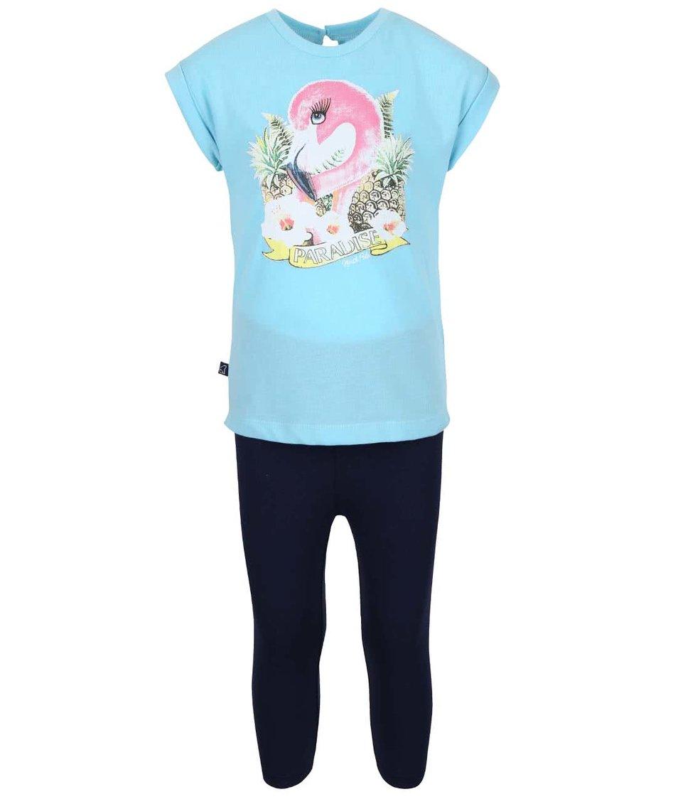 Set holčičích modrých legín a světle modrého trička North Pole Kids